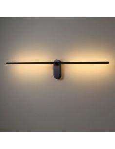 Kinkiet LED LINE 243A ruchomy czarny minimalistyczny - Elkim Lighting