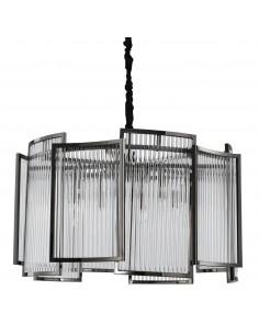 Lampa wisząca Imperio kryształowa MP0098 black - Step Into Design