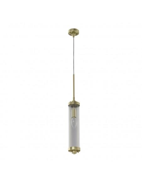Lampa wisząca Fiatto l Old Gold złota kryształowa - Orlicki Design