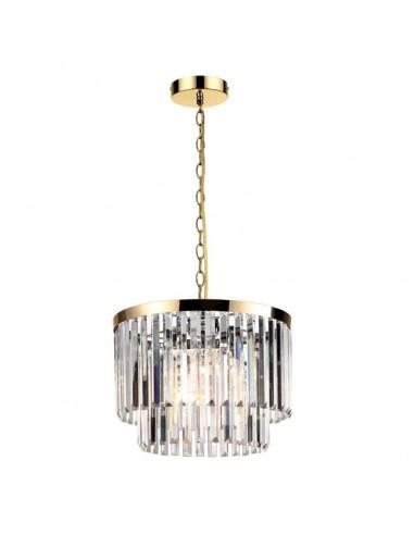 Lampa wisząca Vetro kryształowa złota LP-2910/5P AGD - Light Prestige
