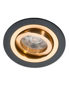 Oprawa podtynkowa Alcazar oczko regulowane czarno złote - Lumifall