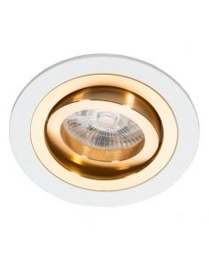 Oprawa podtynkowa Alcazar oczko regulowane biało złote - Lumifall