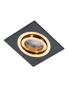 Oprawa podtynkowa regulowana Alcazar czarno złota - Lumifall