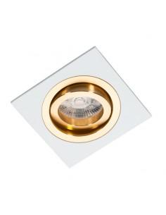 Oprawa podtynkowa regulowana Alcazar biało złota - Lumifall