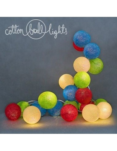 Świecące kule LED Colorful - Cotton...