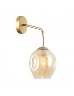Kinkiet złoty Borgo WL-30843-1 GD+AMB Italux