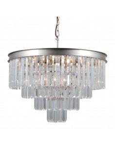 Lampa wisząca kryształowa Verdes PND-44372-8A-SLVR-BRW Italux
