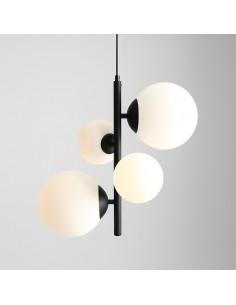 Lampa wisząca Bloom czarna 1091L1 skandynawska szklane klosze - Aldex