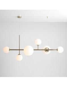 Lampa wisząca glamour Dione złota 1092K30 szklane klosze kule - Aldex