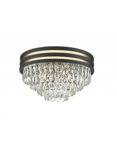 Lampa sufitowa Naica czarno złota C0525-05A-P7D7 Zuma Line