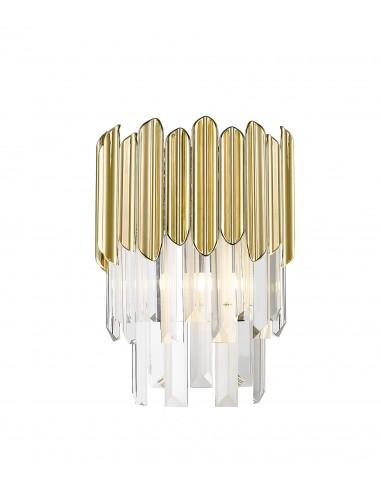 Kinkiet kryształowy złoty Gladius W0535-01B-B5J7 Zuma Line