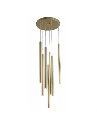 Lungo lampa wisząca tuby złote LP-894/7P GD Light Prestige