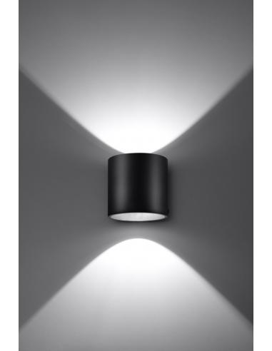 Orbis kinkiet czarny 2 punktowy góra dół tuba SL.0048 - Sollux