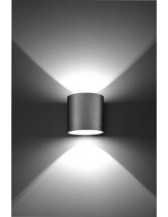 Orbis kinkiet szary 2 punktowy tuba góra dół SL.0049 - Sollux