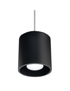 Lampa wisząca Orbis tuba czarna 1 punktowa SL.0051 - Sollux