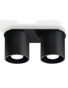 Downlight tuba Orbis 2 punktowa czarna SL.0054 - Sollux