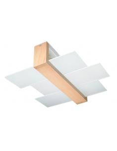 Plafon Feniks 2 punktowy drewno SL.0076 - Sollux