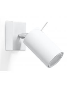 Kinkiet Ring regulowana tuba biała SL.0087 - Sollux