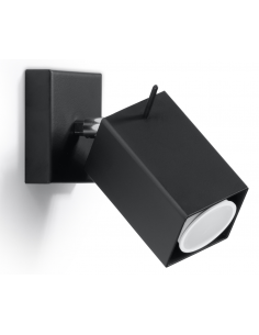 Kinkiet regulowany Merida czarny SL.0099 - Sollux