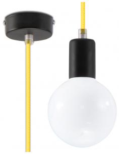 Lampa Wisząca EDISON Żółta...