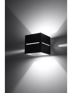Kinkiet nowoczesny Lobo czarny kwadratowy SL.0204 - Sollux