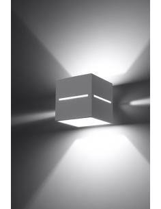Kinkiet nowoczesny biały Lobo kwadratowy SL.0206 - Sollux