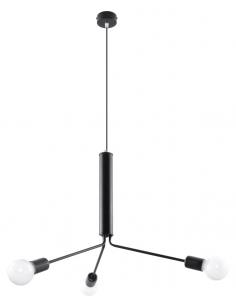 Lampa wisząca Duomo 3D czarna SL.0303 - Sollux