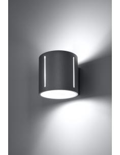 Kinkiet Inez szara tuba góra dół SL.0354 - Sollux