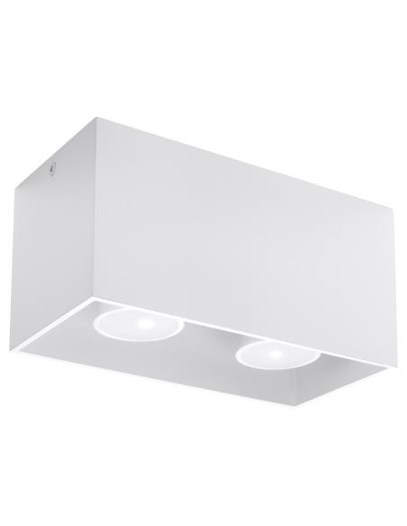 Downlight tuba 2 punktowa Quad maxi biała SL.0380 - Sollux