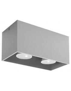 Downlight Quad maxi 2 punktowy szary SL.0382 - Sollux