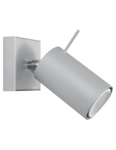 Kinkiet regulowany Ring szara tuba SL.0449 - Sollux