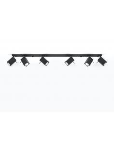 Spot listwa regulowana Merida 6 punktowa czarna SL.0460 - Sollux