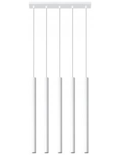 Lampa wisząca PASTELO 5 punktowa biała SL.0468 - Sollux