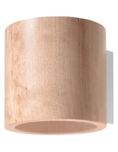 Kinkiet skandynawski drewniany Orbis okrągły tuba SL.0490 - Sollux