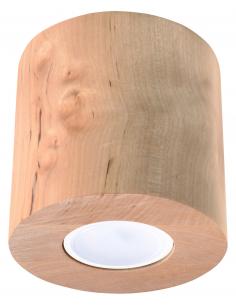 Downlight tuba ORBIS naturalne drewno SL.0492 - Sollux