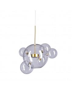 Lampa wisząca Bubbles 5+1 LED złota 3000K szklana kula bańka ST-0801-5+1 - Step into design