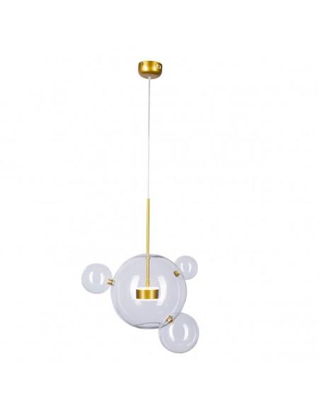 Lampa wisząca złota Bubbles 3+1 LED szklane bańki kule ST-0801-3+1 - Step into design