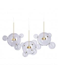 Lampa wisząca Bubbles -14 LED złota ST-0801-14 szklane bańki kule - Step into design