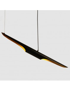 Lampa wisząca BLACK TUBE czarno złota 100 cm ST-0502-1 - Step into design