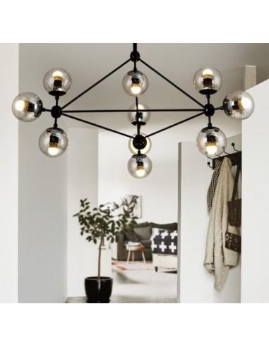 Lampa wisząca ASTRIFERO 10 bursztynowo czarna 91 cm ST 9047 10 Step into design