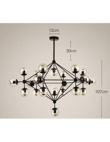 Lampa wisząca ASTRIFERO 21 bursztynowo czarna 165 cm ST 9047 21 Step into design