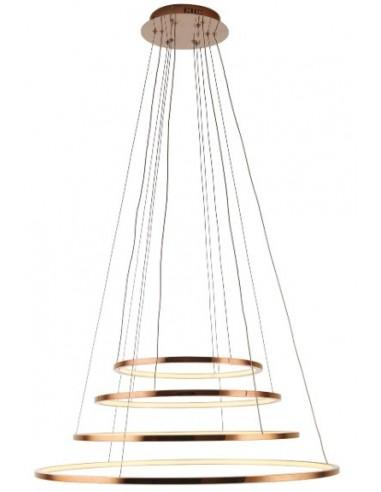Lampa wisząca LED Queen IV miedź...