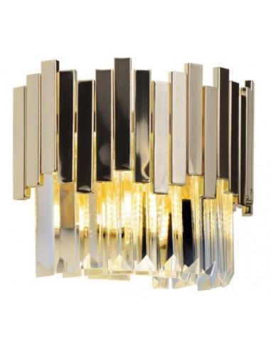 Kinkiet złoty Trend kryształki W0251 - MaxLight