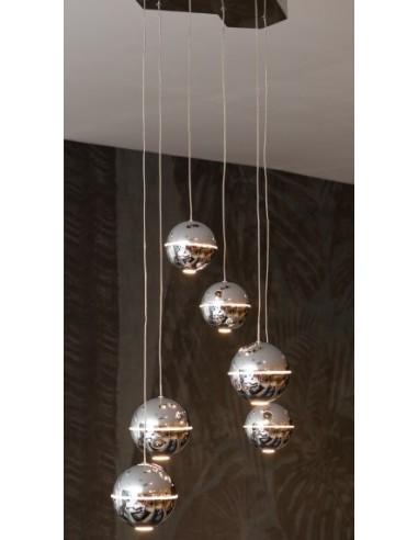 Lampa wisząca LED Zen 6 chrom P0315 -...
