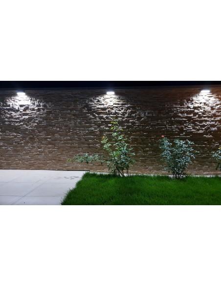Lampa elewacyjna LED Mur PC 1502A Popielaty IP44 - Su-ma