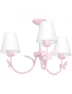 Lampa sufitowa Alice 3 punktowa różowa MLP963 - Milagro
