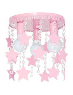 Lampa sufitowa STAR różowa...