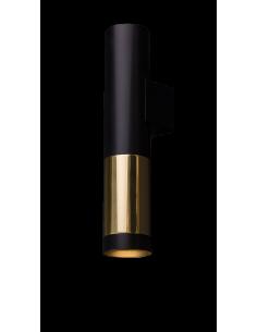 Kinkiet Kavos czarno złoty 1 punktowy 0380 Amplex