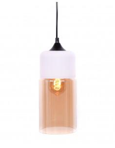Lampa wisząca Zenia 1 Bursztynowy LDP 6806 WT - Lumina Deco