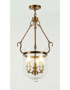 Lampa wisząca Leo 3 Mosiądz...